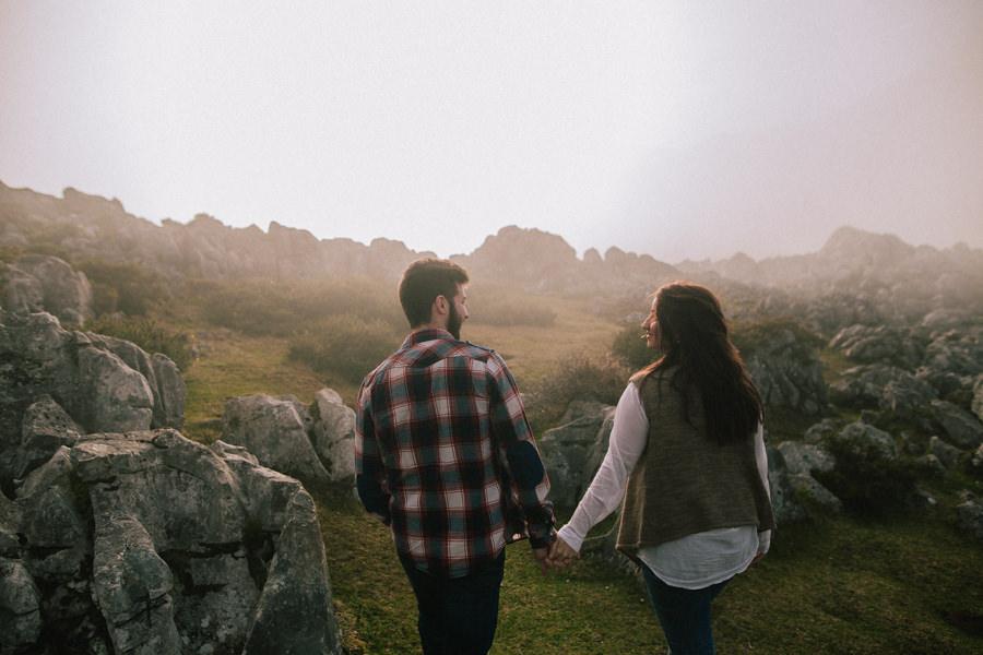 Sesion de pareja en los lagos de covadonga