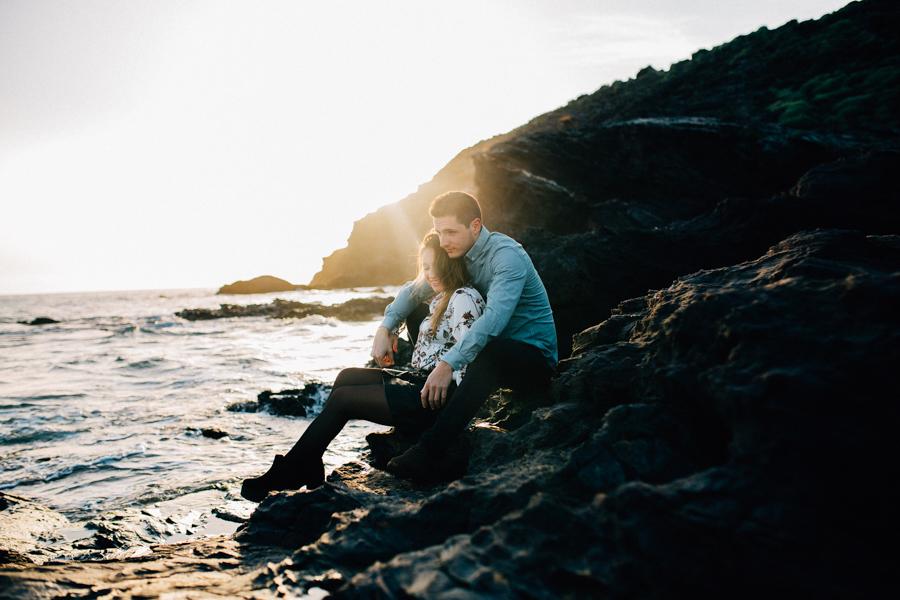 sesion de pareja en la playa